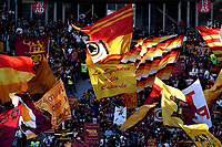 AS Roma fans cheer on before the Serie A 2018/2019 football match between AS Roma and UC Sampdoria at stadio Olimpico, Roma, November, 11, 2018 <br />  Foto Andrea Staccioli / Insidefoto