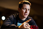 © Joel Goodman - 07973 332324 - all rights reserved . 05/04/2017 . Manchester , UK . Manchester United footballer ANDER HERRERA at restaurant , Tapeo & Wine ( which is part-backed by the father of his team-mate , Juan Mata ) in Manchester City Centre . Photo credit : Joel Goodman