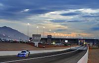 Nov. 1, 2008; Las Vegas, NV, USA: NHRA funny car driver Melanie Troxel during qualifying for the Las Vegas Nationals at The Strip in Las Vegas. Mandatory Credit: Mark J. Rebilas-