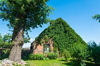 Historisches Fachwerkhaus, Neulieitzegöricke, ältestes Kolonistendorf im Oderbruch, Neulewin, Oderbruch, Brandenburg, Deutschland