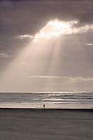 People walking on beach. Rockaway Beach. Oregon