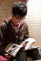 Model Released illustration photo on reading