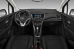 Stock photo of straight dashboard view of a 2020 Chevrolet Trax LT 5 Door SUV