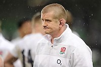 An ecstatic Graham Rowntree, England Forwards Coach, after winning the RBS 6 Nations match between Ireland and England at the Aviva Stadium, Dublin on Sunday 10 February 2013 (Photo by Rob Munro)