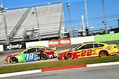 #18: Kyle Busch, Joe Gibbs Racing, Toyota Camry M&M's, #22: Joey Logano, Team Penske, Ford Mustang Shell Pennzoil