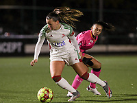 Hannah Eurlings (9 OHL) and Jessica Silva Valdebenito (18 Charleroi)in action during a female soccer game between Oud Heverlee Leuven and Sporting de Charleroi on the seventh matchday of the 2020 - 2021 season of Belgian Womens Super League , sunday 15 th of November 2020  in Heverlee , Belgium . PHOTO SPORTPIX.BE | SPP | SEVIL OKTEM