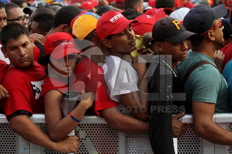 Último comício do candidato à presidente, Nicolas Maduro antes da eleição de 14 de abril de 2013. FOTO: AMANDA PEROBELLI/BRAZIL PHOTO PRESS