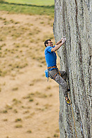 Nick Bullock on 'Strawberries' E7 6b, Craig Bwlch y Moch (Tremadog), North Wales, United Kingdom
