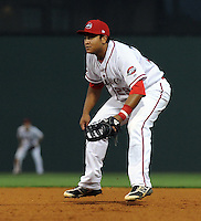 First baseman Boss Moanaroa (29) of the Greenville Drive in a game against the Augusta GreenJackets on April 19, 2012, at Fluor Field at the West End in Greenville, South Carolina. (Tom Priddy/Four Seam Images)