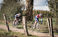 Mathieu Van der Poel (NED/Alpecin-Fenix) & Mads Pedersen (DEN/Trek-Segafredo) over the Plugstreets<br /> <br /> 82nd Gent-Wevelgem in Flanders Fields 2020 (1.UWT)<br /> 1 day race from Ieper to Wevelgem (232km)<br /> <br /> ©kramon