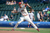 Pitcher Micah Miniard (31) of Boyle County High School in Danville, Kentucky during the Under Armour All-American Game on August 24, 2013 at Wrigley Field in Chicago, Illinois.  (Mike Janes/Four Seam Images)