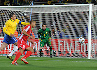Brazil defeated North Korea, 2-1, in both teams' opening match of play in Group G of the 2010 FIFA World Cup. The match was played at Ellis Park in Johannesburg, South Africa June 15th.