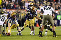 Philadelphia, PA - December 14, 2019:    Navy Midshipmen quarterback Malcolm Perry (10) changes the play during the 120th game between Army vs Navy at Lincoln Financial Field in Philadelphia, PA. (Photo by Elliott Brown/Media Images International)