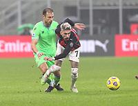 Milano  23-12-2020<br /> Stadio Giuseppe Meazza<br /> Campionato Serie A Tim 2020/21<br /> Milan Lazio<br /> nella foto:   Samuel Castillejo                                                       <br /> Antonio Saia