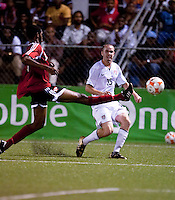Brian Ownby on defense. US Under 20 Men's National Team played to a scoreless draw vs Trinidad & Tobago, advancing after winning 4-3 on penalty kicks at the Marvin Lee Stadium in Macoya, Trinidad on March 13th, 2009 during the 2009 CONCACAF U-20 Championship.
