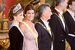 Juliana Awada during the gala dinner given to the President of the Argentine Republic, Sr. Mauricio Macri and Sra Juliana Awada at Real Palace in Madrid, Spain. February 19, 2017. (ALTERPHOTOS/BorjaB.Hojas)