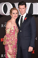 """Claire Foy and Matt Smith<br /> at the World Premiere of the Netflix series """"The Crown"""" at the Odeon Leicester Square, London.<br /> <br /> <br /> ©Ash Knotek  D3192  01/11/2016"""
