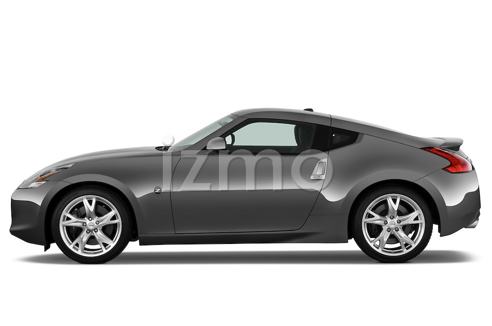 Driver side profile view of a 2009 Nissan 370 Z Touring Coupe.