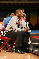 26 February 2006: Head coach Kerry McCoy during the Pac-10 Wrestling Championships at Maples Pavilion in Stanford, CA.
