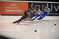 SPEEDSKATING: DORDRECHT: 06-03-2021, ISU World Short Track Speedskating Championships, SF 5000m Men, ©photo Martin de Jong