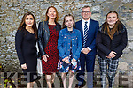 Jessie Brealish former student of Presentation NS receiving her Confirmation in St John's Church on Sunday. L to r: Hannah, Annette, Jessie, Martin and Cara Brealish.