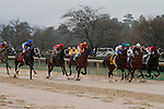 Starting field in the opening stretch during the running of the Rebel Stakes (Grade II) at Oaklawn Park in Hot Springs, Arkansas-USA on March 15, 2014. (Credit Image: © Justin Manning/Eclipse/ZUMAPRESS.com)