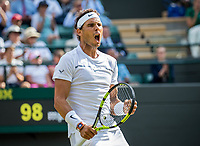London, England, 10th July 2017. Tennis, Wimbledon. Rafael Nadal (ESP). Photo Henk Koster, Tennis Images.