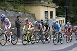 The lead riders including Chris Anker Sorensen (DEN) Tinkoff-Saxo and Thibaut Pint (FRA) FDJ tackle the final climb of Superga near the finish of the 2015 96th Milan-Turin 186km race starting at San Giuliano Milanese, Italy. 1st October 2015.<br /> Picture: Eoin Clarke | Newsfile