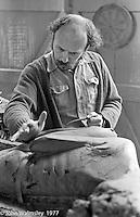 John Blakeley, sculptor 1977