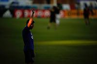 SAN JOSE, CA - SEPTEMBER 16: Cristian Espinoza #10 of the San Jose Earthquakes during warmups before a game between Portland Timbers and San Jose Earthquakes at Earthquakes Stadium on September 16, 2020 in San Jose, California.