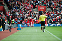 Sun 06 October 2013 Pictured:  of Southampton celebrate their first half goal Re: Barclays Premier League Southampton FC  v Swansea City FC  at St.Mary's Stadium, Southampton