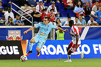 Harrison, NJ - Thursday Sept. 15, 2016: Rodolfo Zelaya, Chris Duvall during a CONCACAF Champions League match between the New York Red Bulls and Alianza FC at Red Bull Arena.