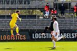 Ridge Munsy (Wuerzburger Kickers, Nr. 20) mit der Riesenchance, steht vor Stefanos Kampinos (SV Sandhausen, Nr. 1) legt jedoch den Ball in die Mitte wo kein Anspielpartner steht beim Spiel in der 2. Bundesliga, SV Sandhausen - Wuerzburger Kickers.<br /> <br /> Foto © PIX-Sportfotos *** Foto ist honorarpflichtig! *** Auf Anfrage in hoeherer Qualitaet/Aufloesung. Belegexemplar erbeten. Veroeffentlichung ausschliesslich fuer journalistisch-publizistische Zwecke. For editorial use only. For editorial use only. DFL regulations prohibit any use of photographs as image sequences and/or quasi-video.