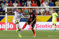 Harrison, NJ - Friday July 07, 2017: Henry Figueroa, David Ramírez during a 2017 CONCACAF Gold Cup Group A match between the men's national teams of Honduras (HON) vs Costa Rica (CRC) at Red Bull Arena.