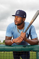 Corpus Christi Hooks outfielder Ronnie Dawson (3) poses for a photo on May 1, 2019, at Arvest Ballpark in Springdale, Arkansas. (Jason Ivester/Four Seam Images)
