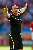 Referee Michal Hester of New Zealand during the game between Greece and South Korea