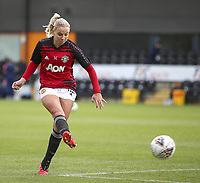 10th October 2020, The Hive, Canons Park, Harrow, England; Jackie Groenen of Manchester United, ManU shoots in the warm up during for womens Super League game between Tottenham Hotspur and Manchester United on the 10th October 2020 at The Hive, London, England. Credit: Tom West/SPP Tom West/SPP Tottenham Hotspur vs Manchester United