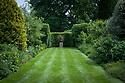 Vegetable Garden borders, looking east, Vann House and Garden, Surrey, mid June.