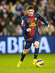 VALLADOLID, SPAIN - DECEMBER 22:  Lionel Messi of FC Barcelona runs with the ball during the La Liga game between Real Valladolid and FC Barcelona at Jose Zorrilla on December 22, 2012 in Valladolid, Spain.  Photo by Victor Fraile / The Power of Sport Images
