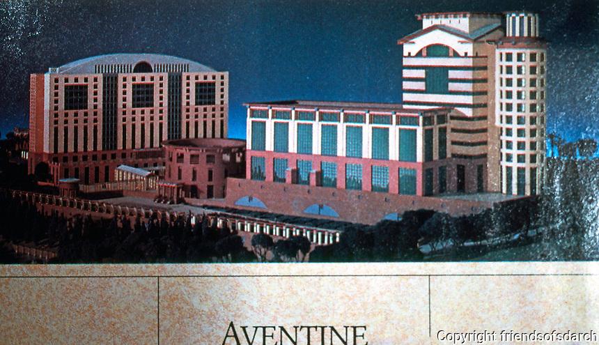 Michael Graves: Aventine Hyatt Regency, San Diego. Advertisement 1989.