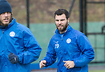 St Johnstone Training….31.03.17<br />Richie Foster pictured training alongside Murray Davidson on the astroturf at McDiarmid Park this morning ahead of tomorrow's game at Hamilton.<br />Picture by Graeme Hart.<br />Copyright Perthshire Picture Agency<br />Tel: 01738 623350  Mobile: 07990 594431