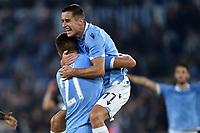 Adam Marusic of SS Lazio (R) celebrates with Sergej Milinkovic-Savic  after scoring the goal of 2-0 for his side <br /> Roma 22-9-2019 Stadio Olimpico <br /> Football Serie A 2019/2020 <br /> SS Lazio - Parma Calcio <br /> Foto Andrea Staccioli / Insidefoto