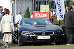 ISPS Handa Wales Open Golf final day at the Celtic Manor Resort in Newport, UK. :  BMW I8 sportscar which Jamie Donaldson nearly hit with his drive onto the 18th green this afternoon.