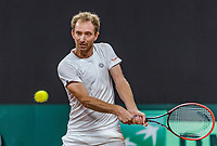 The Hague, The Netherlands, September 16, 2017,  Sportcampus , Davis Cup Netherlands - Chech Republic, Doubles :  Matwe Middelkoop (NED) <br /> Photo: Tennisimages/Henk Koster