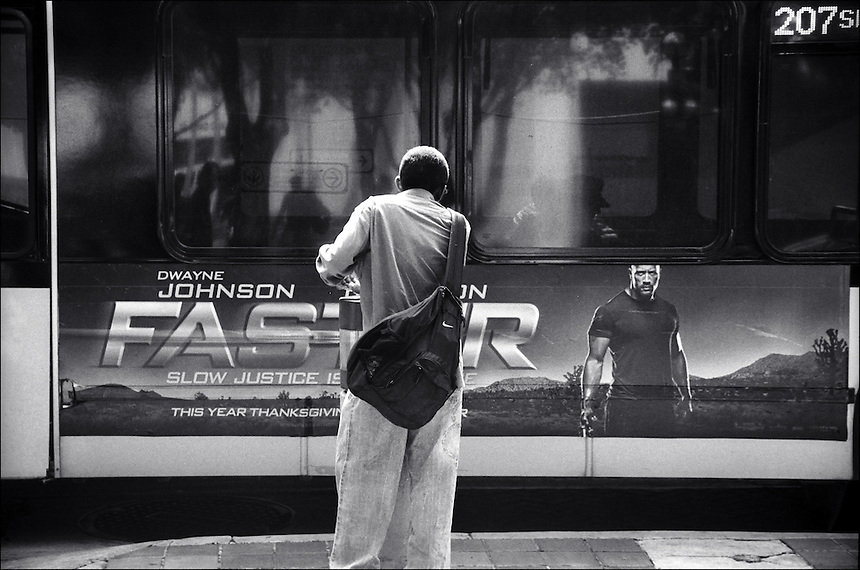 """Government Center bus station<br /> From """"Miami in Black and White"""" series.<br /> Miami, 2010."""