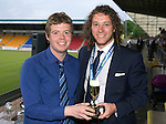 St Johnstone FC Player of the Year Awards...18.05.14<br /> We Are Perth Online Young Player of the Year Award to Stevie May presented by Jamie Beatson<br /> Picture by Graeme Hart.<br /> Copyright Perthshire Picture Agency<br /> Tel: 01738 623350  Mobile: 07990 594431