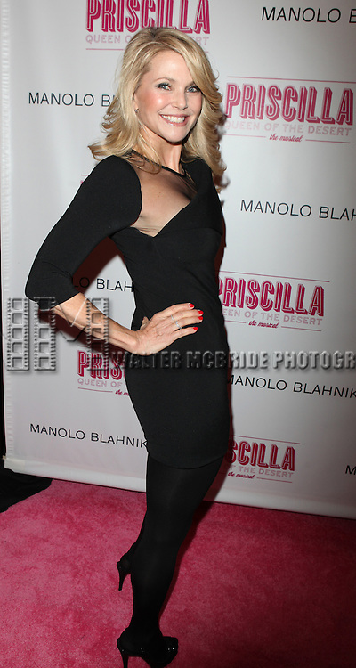 Christie Brinkley.attending the Broadway opening Night Performance of 'Priscilla Queen of the Desert - The Musical' at the Palace Theatre in New York City.