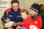 NELSON, NEW ZEALAND - July 26: Tasman Makos Family Fun Day at TRU Players Room, Trafalgar Park July 26, 2015 in Nelson, New Zealand. (Photo by Marc Palmano/Shuttersport Limited)