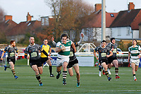 Ealing Trailfinders RFC run for the line during the Championship Cup Quarter Final match between Ealing Trailfinders and Nottingham Rugby at Castle Bar , West Ealing , England  on 2 February 2019. Photo by Carlton Myrie / PRiME Media Images.
