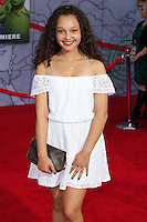 """HOLLYWOOD, LOS ANGELES, CA, USA - MARCH 11: Kayla Maisonet at the World Premiere Of Disney's """"Muppets Most Wanted"""" held at the El Capitan Theatre on March 11, 2014 in Hollywood, Los Angeles, California, United States. (Photo by Xavier Collin/Celebrity Monitor)"""